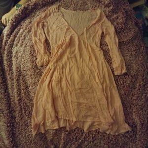 Dresses & Skirts - Pink dress boho